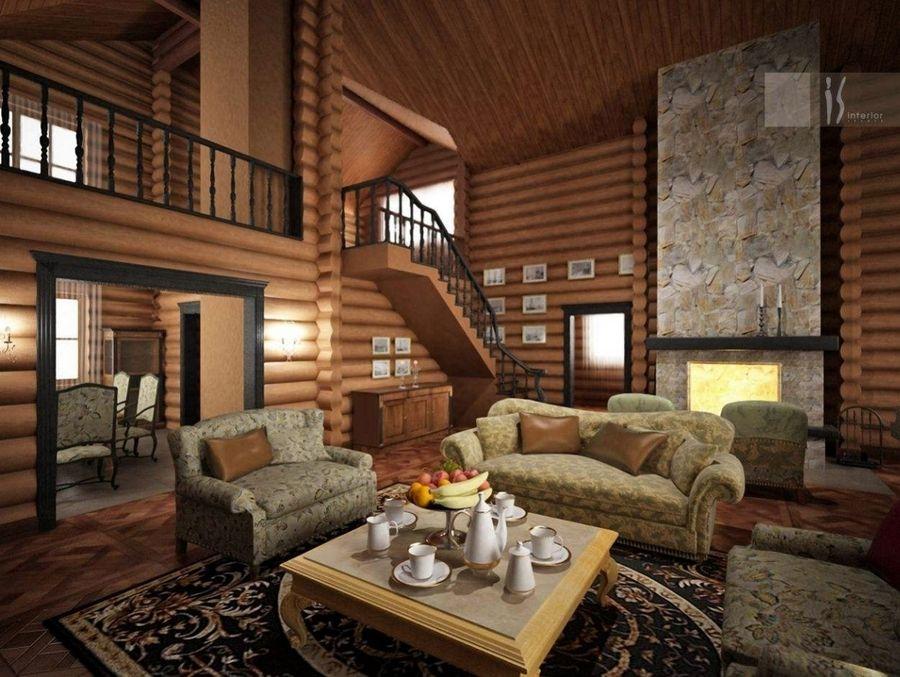 Дизайн интерьеры деревянных домов фото