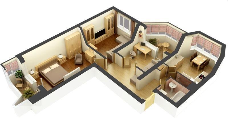 Дизайн и планировка 3 комнатной квартиры