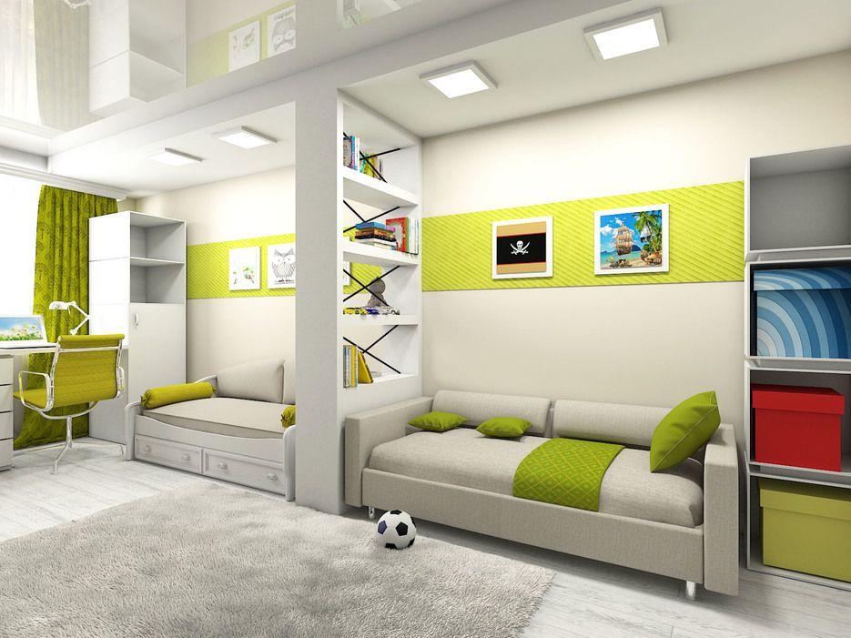 Интерьер для комнаты разнополых детей фото