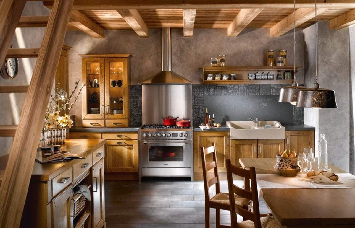 Дизайн в стиле кантри кухня