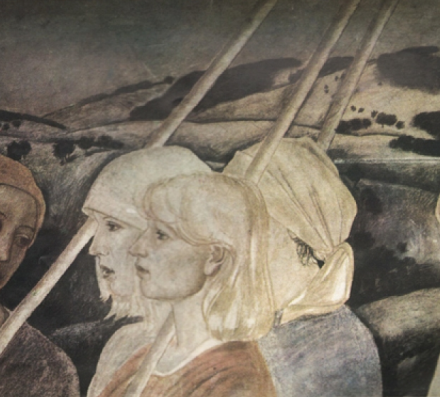Detail of Diploma work. Fresco-secco techniquet